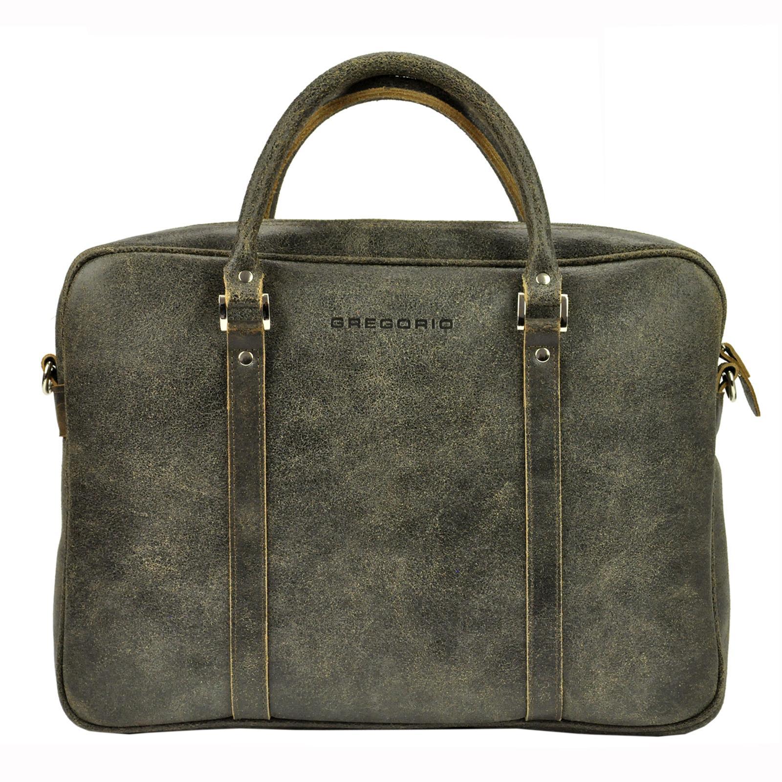 Kožená taška na rameno Gregorio B872/CRE