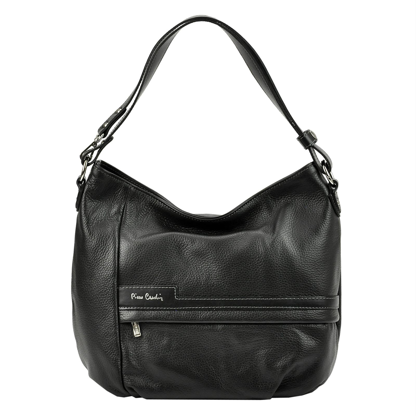 Praktická kožená kabelka Pierre Cardin.