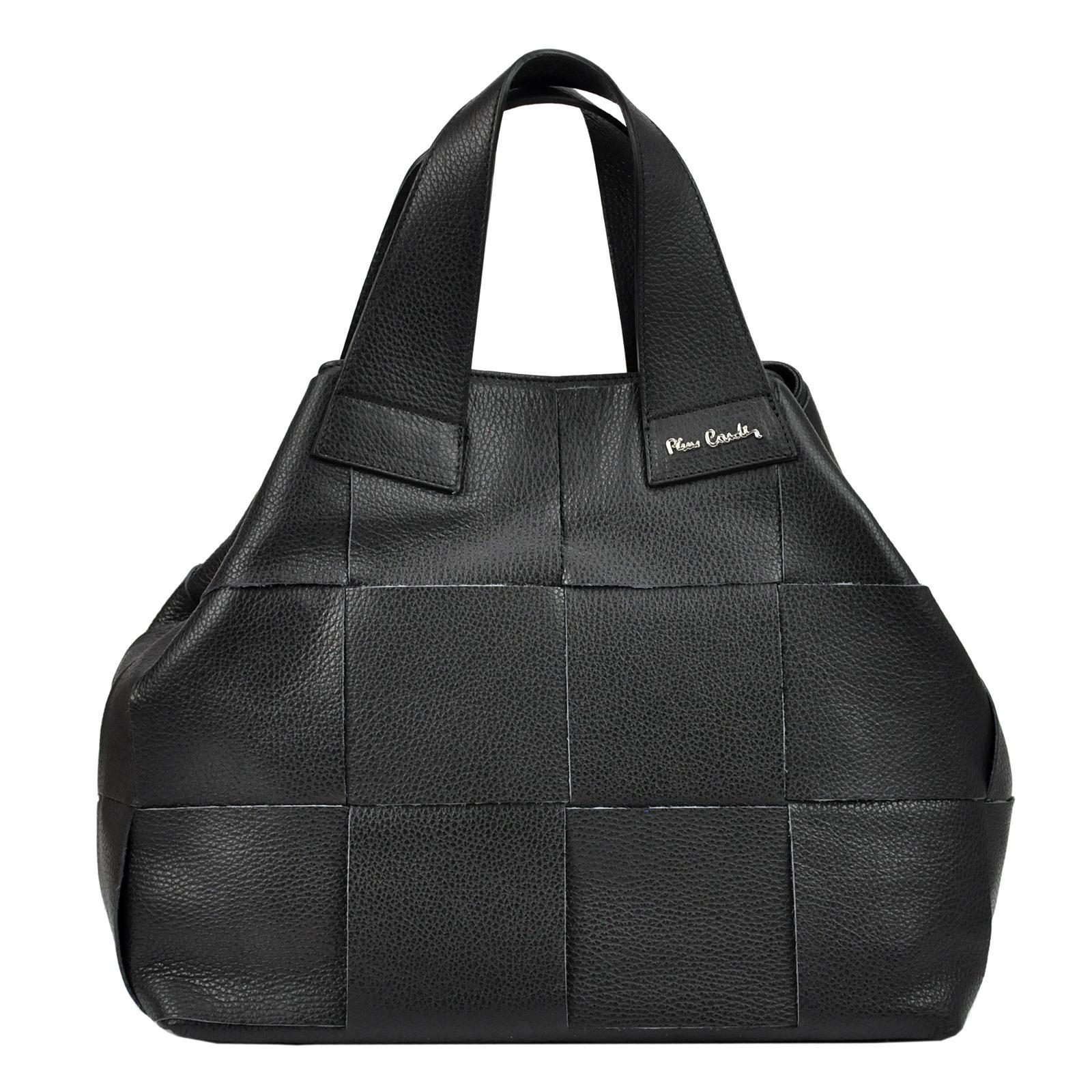 Kožená dámska kabelka Pierre Cardin.