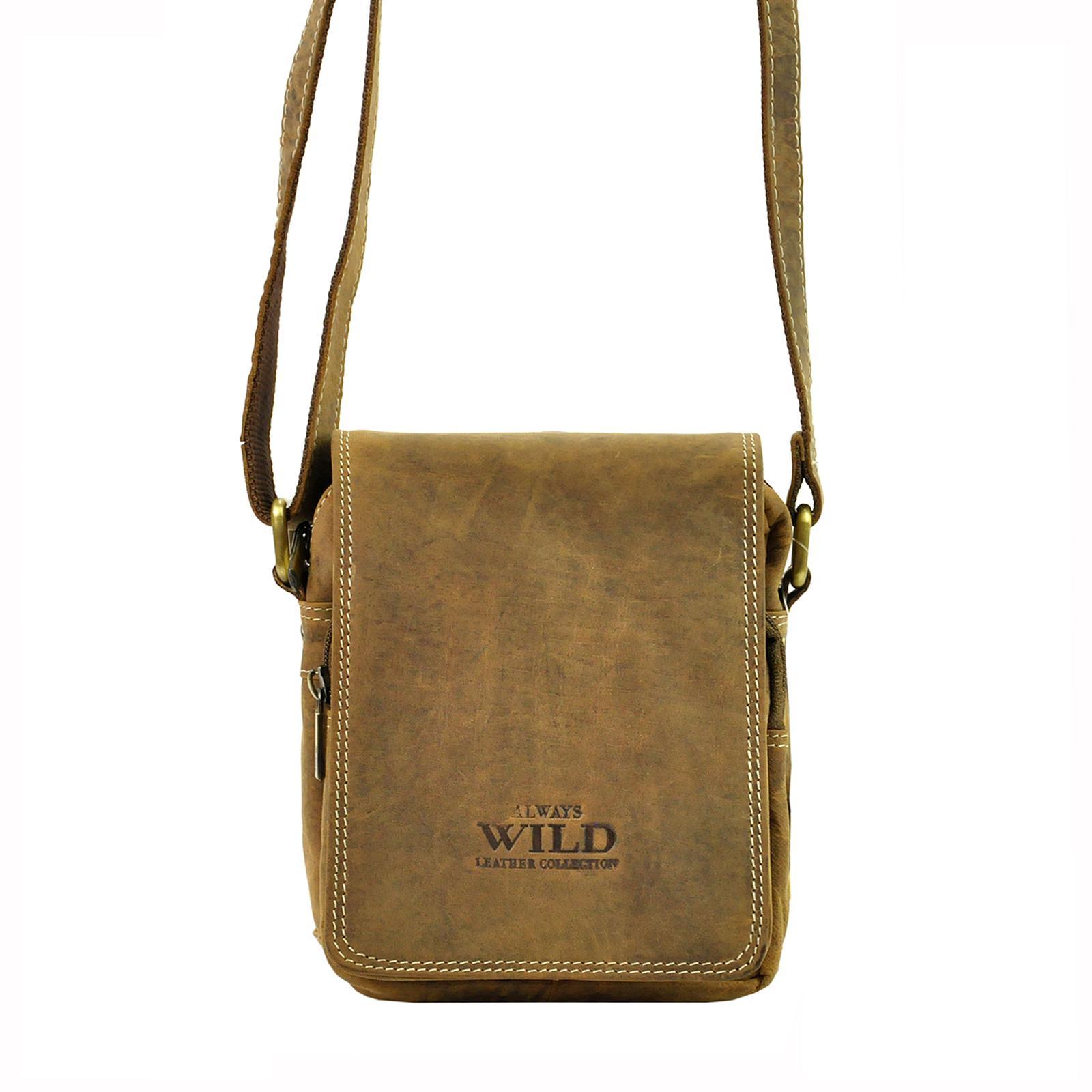 Kožená taška na rameno Wild 250591-MH