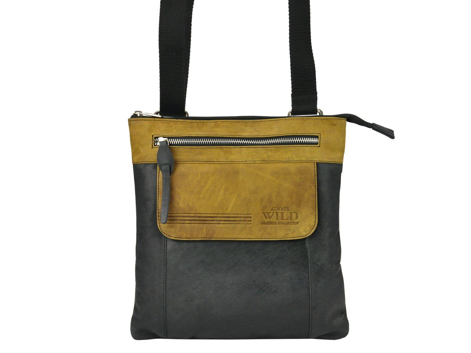 0237e7ae10421 Zaujímavá kožená taška na rameno Always Wild BAG-4-HB
