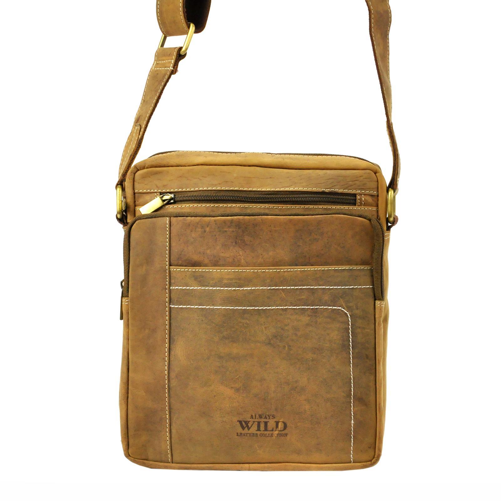 Kožená taška na rameno Wild 250839-MH