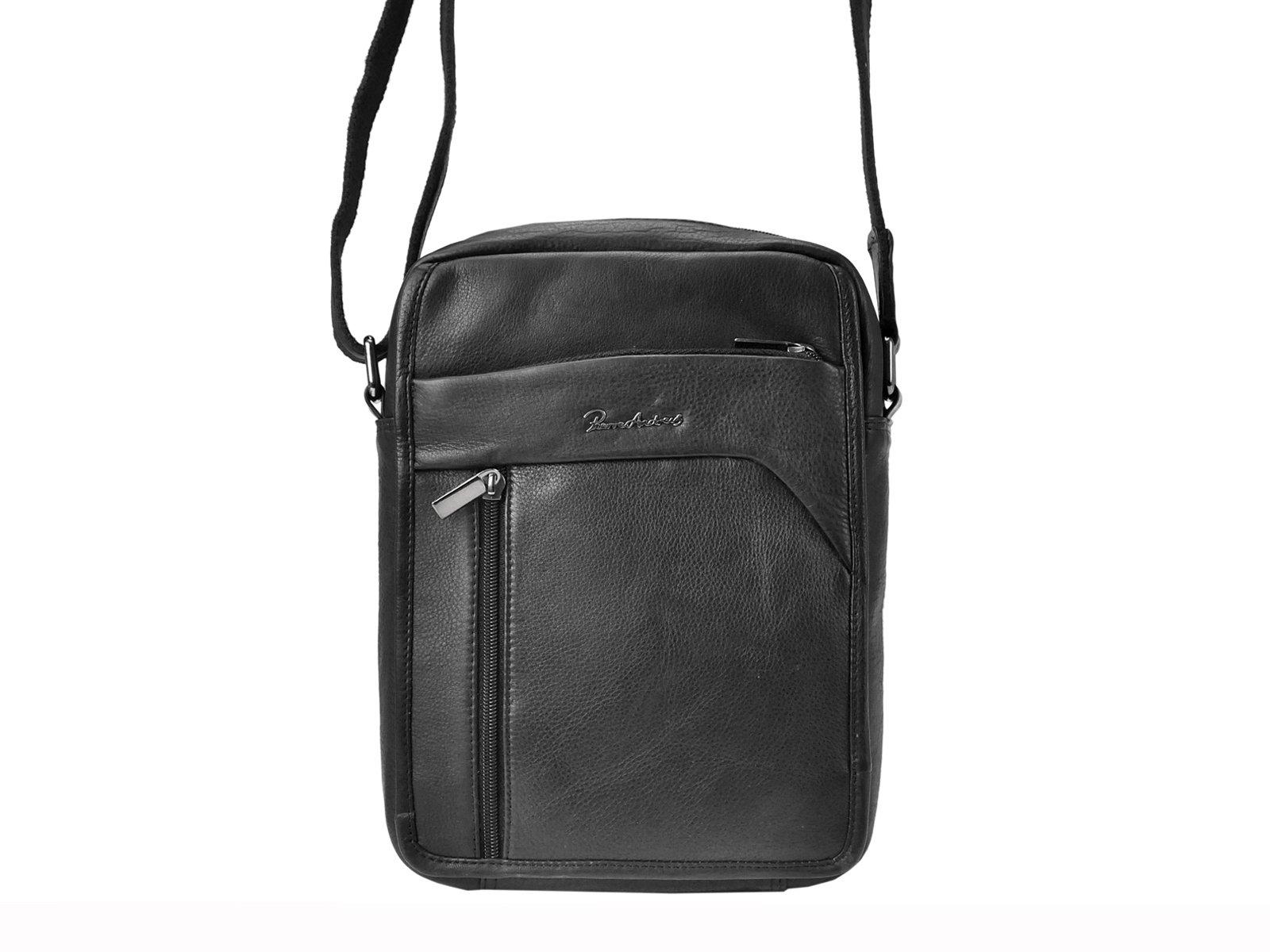 Trendy pánska kožená taška na rameno Pierre Andreus 502-NDM-PA