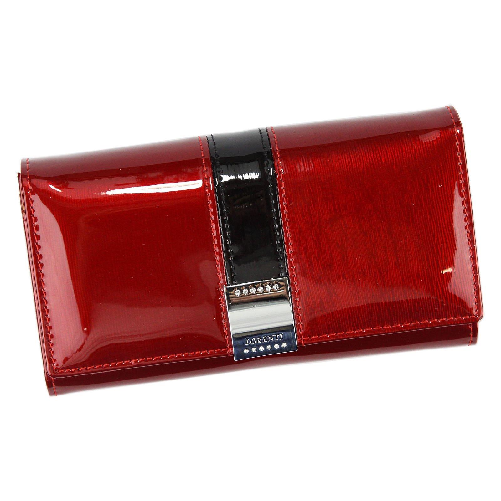 Červená dámska kožená peňaženka Lorenti 76114-SH